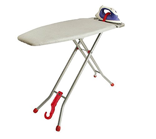 """Ironmatik Space Saver Ironing Board 44"""" X 15"""" Usage Area (board Length 35"""") Full Length 62"""" Easy Storage, Adjustable Heigth, Heat Resistant Silicone Tray, Padded Top."""