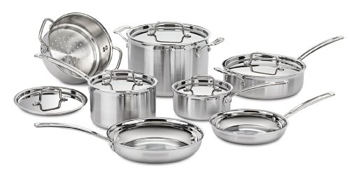 Cuisinart Mcp 12n Multiclad Pro Stainless Steel 12 Piece Cookware Set