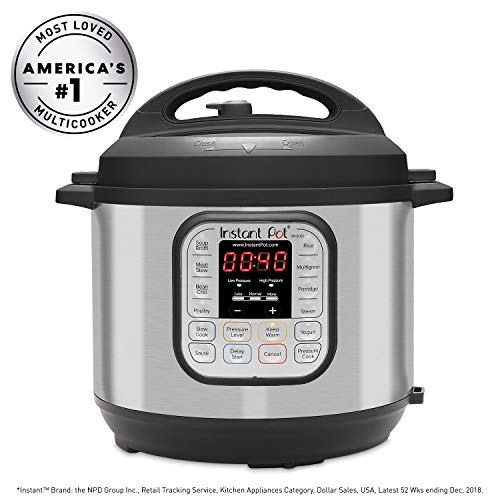 Instant Pot Duo60 6 Qt 7 In 1 Multi Use Programmable Pressure Cooker, Slow Cooker, Rice Cooker, Steamer, Sauté, Yogurt Maker And Warmer