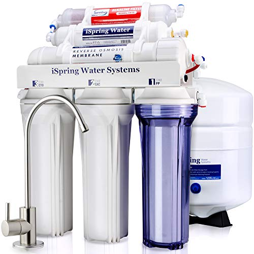 Ispring Rcc7ak 6 Stage Superb Taste High Capacity Under Sink Reverse Osmosis Drinking Water Filter System With Alkaline Remineralization Natural Ph