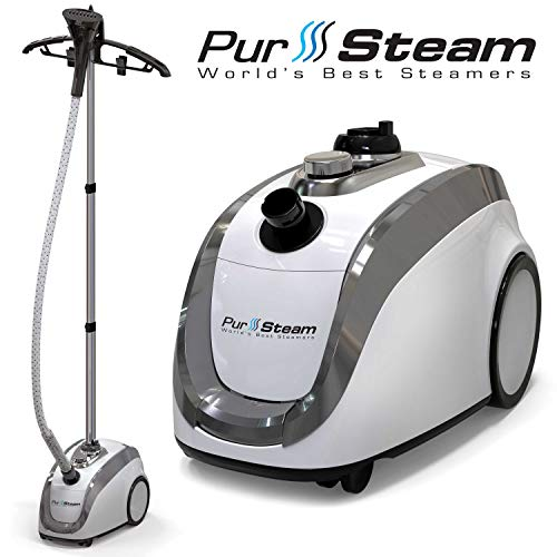 Pursteam 2019 Official Partner Of Fashion Full Size Steamer For Clothes, Garments, Fabric Professional Heavy Duty 4 Steam Levels Producing Perfect Continuous Steam