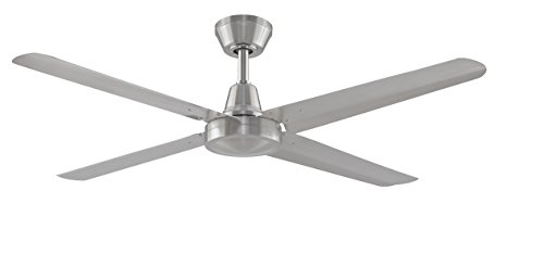 Fanimation Ascension Fp6717bn High Power Indoor/outdoor Ceiling Fan With 54 Inch Blades, 3 Speed Wall Control, Brushed Nickel
