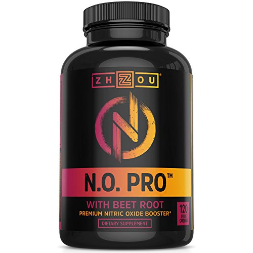 Nitric Oxide Supplement With L Arginine, Citrulline Malate, Aakg And Beet Root Powerful N.o. Booster And Muscle Builder For Strength, Blood Flow And Endurance 120 Veggie Capsules.
