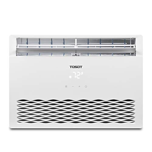 Tosot 8,000 Btu Window Air Conditioner 2019 Model, Energy Star, Modern Design, And Temperature Sensing Remote Window Ac For Bedroom, Living Room, And Attics Up To 350 Sq. Ft.