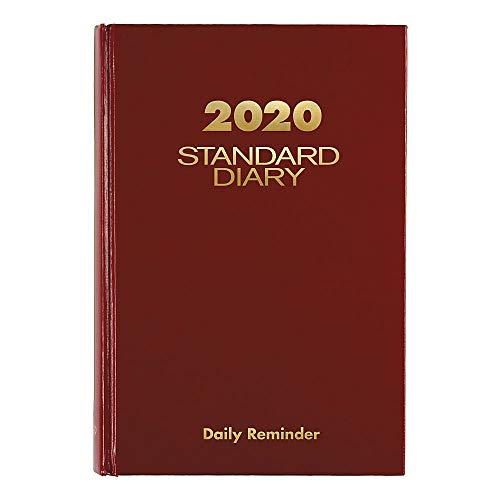"""At A Glance 2020 Standard Diary, 5 3/4"""" X 8 1/4"""", Medium, Red (sd3891320)"""