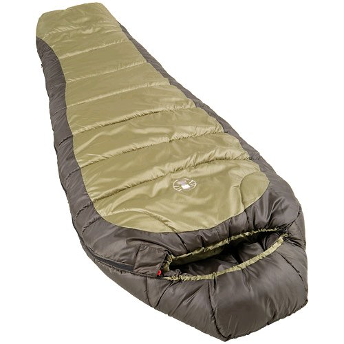 Coleman 0°f Mummy Sleeping Bag For Big And Tall Adults | North Rim Cold Weather Sleeping Bag, Olive