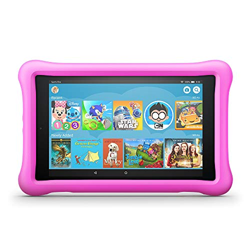 "Fire Hd 8 Kids Edition Tablet, 8"" Hd Display, 32 Gb, Pink Kid Proof Case"