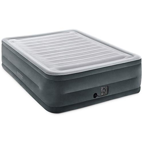 """Intex Comfort Plush Elevated Dura Beam Airbed With Internal Electric Pump, Bed Height 22"""", Queen"""