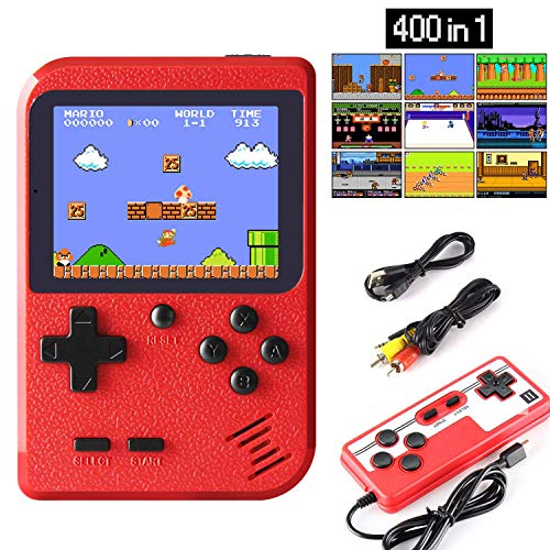 Jamswall Handheld Game Console, Retro Mini Game Player With 400 Classical Fc Games 2.8 Inch Color Screen Support For Connecting Tv & Two Players 800mah Rechargeable Battery Present For Kids And Adult