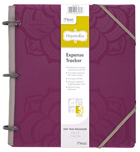 "Mead Organizher Expense Tracker, Budget Planner, Bill Organizer, 8 1/2"" X 11"", Poly, Purple (64047)"