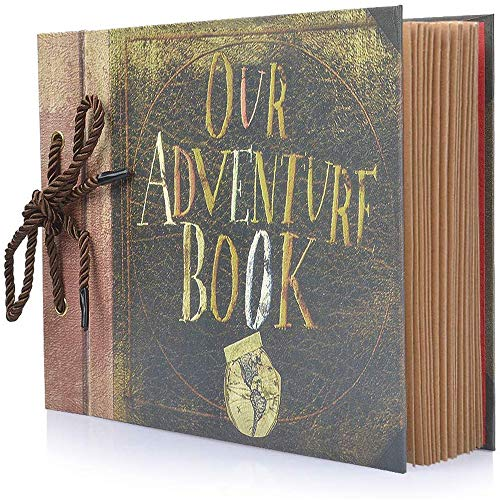 Photo Album Scrapbook, Our Adventure Book, Diy Handmade Album Scrapbook Movie Up Travel Scrapbook For Anniversary, Wedding, Travelling, Baby Shower, Etc (travel Scrapbook)
