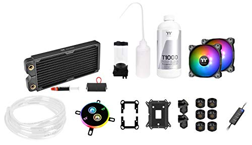 Thermaltake Pacific C240 Ddc Res/pump 5v Motherboard Sync Copper Radiator Soft Tube Water Cooling Kit Cl W249 Cu12sw A