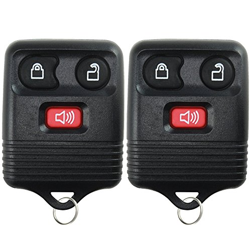 2 Replacement Keyless Entry Remote Control Key Fob Clicker Transmitter 3 Button Black