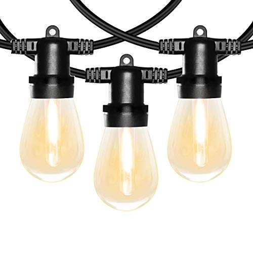 Banord 102ft Dimmable Led Outdoor String Lights, 34 Hanging Sockets With 35 X Shatterproof Led Bulb Party Lights, Waterproof Vintage Ambiance Patio Lights String For Wedding,gatherings