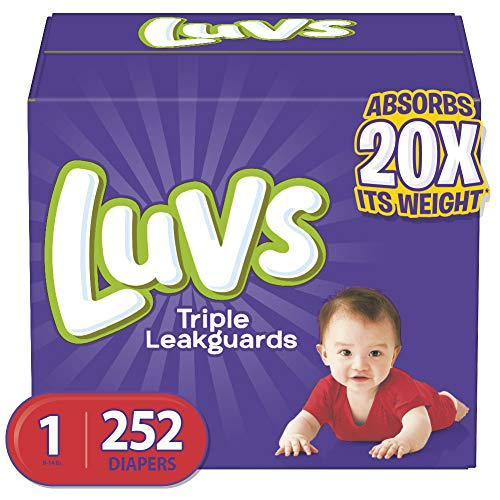 Diapers Newborn / Size 1 (8 14 Lb), 252 Count Luvs Ultra Leakguards Disposable Baby Diapers, One Month Supply (packaging May Vary)