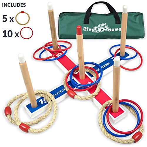 Elite Outdoor Games For Kids Ring Toss Yard Games For Adults And Family. Easy Backyard Games To Assemble, With Compact Carry Bag For Easy Storage. Fun Kids Games Or Outdoor Toys For Kids