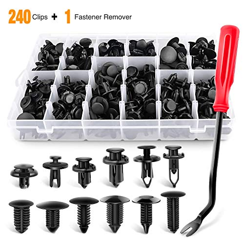 Gooacc 240pcs Bumper Retainer Clips Car Plastic Rivets Fasteners Push Retainer Kit Most Popular Sizes Auto Push Pin Rivets Set Door Trim Panel Fender Clips For Gm Ford Toyota Honda Chrysler