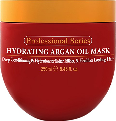 Hydrating Argan Oil Hair Mask And Deep Conditioner By Arvazallia For Dry Or Damaged Hair 8.45 Oz