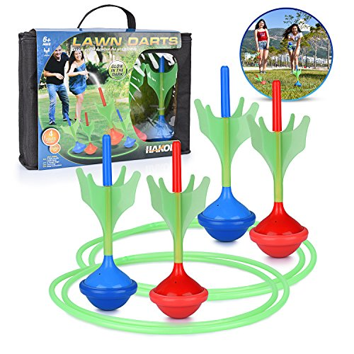 Lawn Darts Game Glow In The Dark, Outdoor Backyard Toy For Kids & Adults | Fun For The Entire Family | Work On Your Aim & Accuracy While Having A Blast
