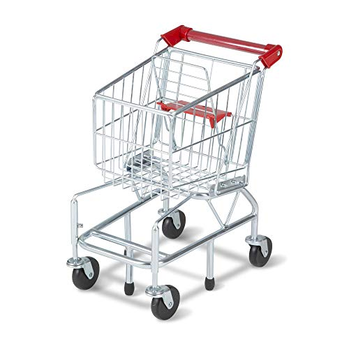 """Melissa & Doug Toy Shopping Cart With Sturdy Metal Frame, Play Sets & Kitchens, Heavy Gauge Steel Construction, 23.25"""" H X 11.75"""" W X 15"""" L"""