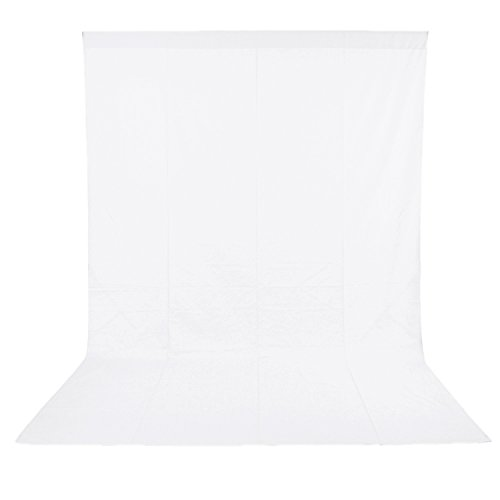 Neewer 6 X 9ft / 1.8 X 2.8m Photo Studio 100% Pure Muslin Collapsible Backdrop Background For Photography,video And Televison (background Only) White