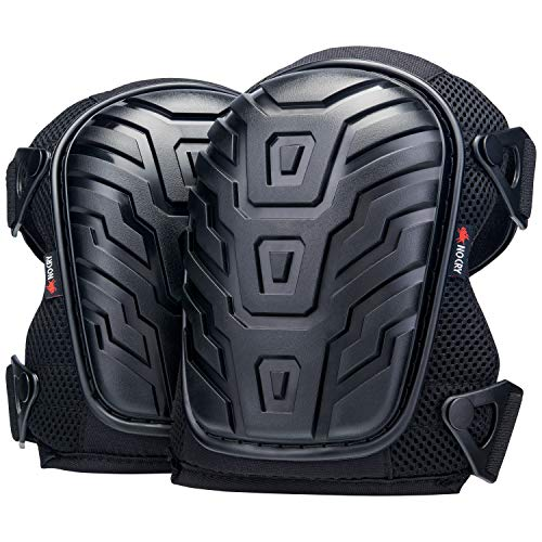Nocry Professional Knee Pads With Heavy Duty Foam Padding And Comfortable Gel Cushion, Strong Double Straps And Adjustable Easy Fix Clips