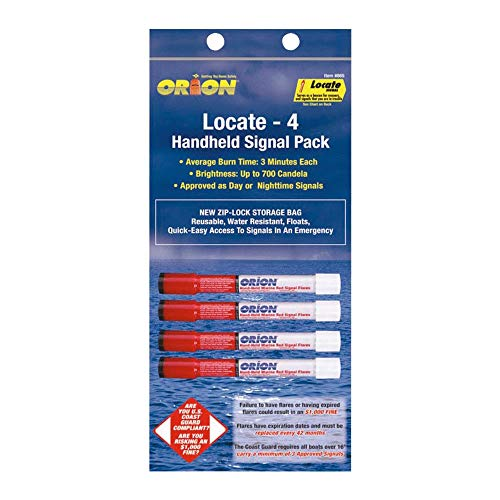 Orion Safety 865, Locator Marine Hand Held Red Flare Pack Of 1