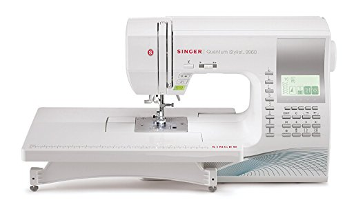 Singer | Quantum Stylist 9960 Computerized Portable Sewing Machine With 600 Stitches Electronic Auto Pilot Mode, Extension Table And Bonus Accessories, Perfect For Customizing Projects