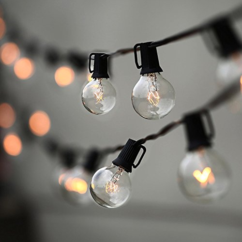 String Lights, Lampat 25ft G40 Globe String Lights With Bulbs Ul Listd For Indoor/outdoor Commercial Decor