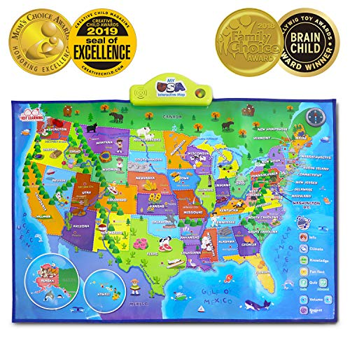 Best Learning I Poster My Usa Interactive Map Educational Talking Toy For Kids Of Ages 5 To 12 Years