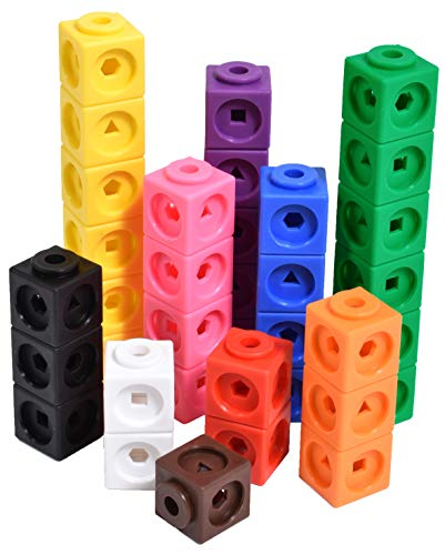 Edx Education Math Cubes Set Of 100 Linking Cubes For Early Math Connecting Manipulative For Preschoolers Aged 3+ And Elementary Aged Kids