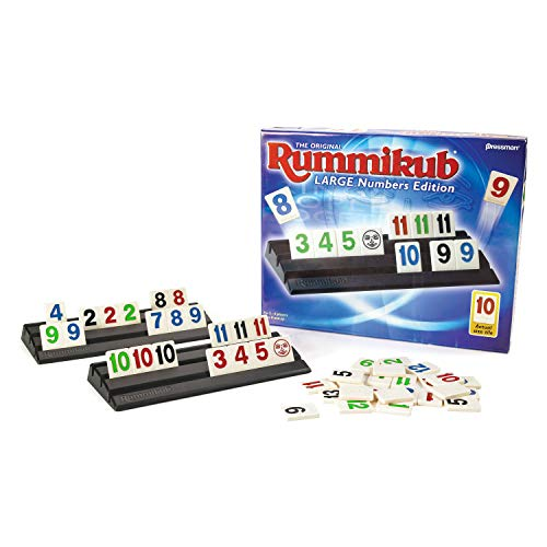 Pressman Rummikub Large Numbers Edition The Original Rummy Tile Game