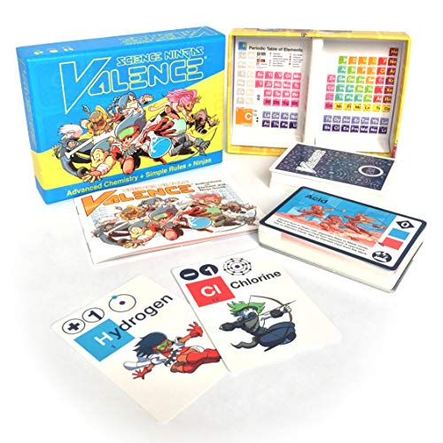 Science Ninjas : Valence Card Game Advanced Chemistry + Simple Rules + Ninjas! Teach Kids How Molecules Form And Chemicals Interact!