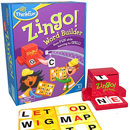 Thinkfun Zingo Word Builder Early Reading Game Award Winning Game For Pre Readers And Early Readers