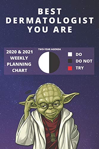 2020 & 2021 Two Year Weekly Planner For Best Dermatologist Gift   Funny Yoda Quote Appointment Book   Two Year Agenda Notebook: Star Wars Fan Daily ... Day Log For Dermatology Career Goal Setting