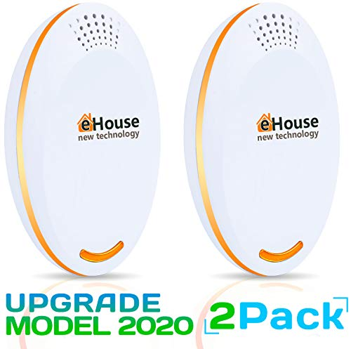 Ac12 Ultrasonic Pest Repeller Electronic Plug In Best Repellent Pest Control Get Rid Of Rodents Squirrels Mice Rats Insects Roaches Spiders Fleas Bed Bugs Flies Ants Mosquitos Fruit Fly!