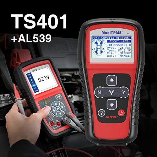 Autel Best Match Tpms Ts401 Plus Al539|tpms Tool Tpms Relearn Tool Ts401 For Tpms Sensor Relearn & Programming|al539 Code Reader Obd2 Scanner Car Electrical Tester With Full Obd2 Diagnoses And Avomet