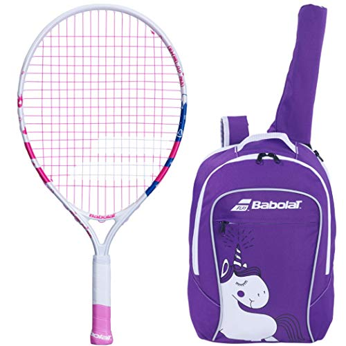 """Babolat B'fly 21"""" Inch Child's Tennis Racquet/racket Kit Or Set Bundled With A Purple Junior Tennis Backpack (best Back To School Gift For Boys And Girls)"""