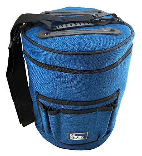 Becraftee Best Yarn Bag/knitting Bag. Portable, Light And Easy To Carry. Yarn Storage Bags Have Pockets For Crochet Hooks & Knitting Needles. Slits On Top To Protect Wool And Prevent Tangling.