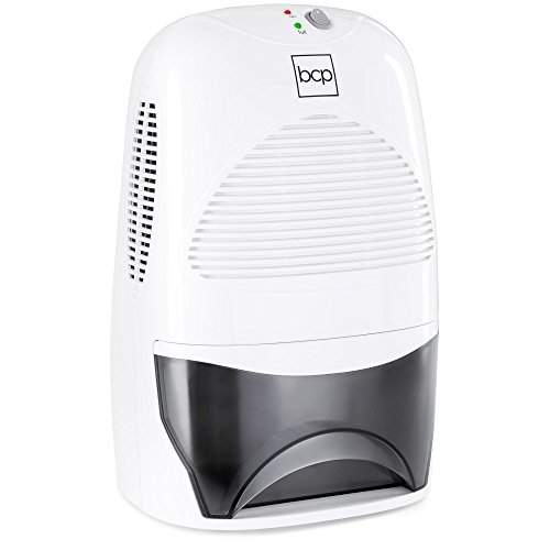 Best Choice Products Portable Mid Size Thermo Electric Dehumidifier For 2,200 Cubic Ft Room, Basement, Rv, Bathroom W/ 2l/67.6oz Capacity Tank, White