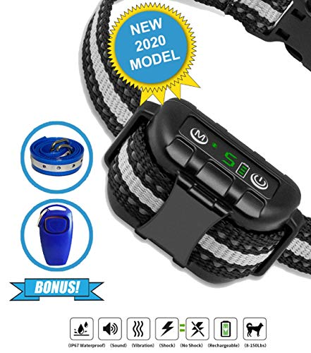 Best Dog Bark Collar For 2020 Dog Training Collar Smart Computer Chip Collar For Dogs Anti Barking Device Bark Collar Large Dog Bark Collar Small Dog. Dog Barking Control Devices.
