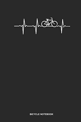 Bicycle Notebook: Blank Log Book For Bicycle Lover: Best Cyclist Journal | Heartbeat Ecg Love Gift