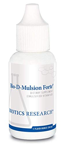 Biotics Research Bio D Mulsion Forte © Vitamin D3 Liquid Drops 50 Mcg(2000 Iu) For Best Absorption, Strengthens Bones, Supports The Immune System, Cardiovascular System