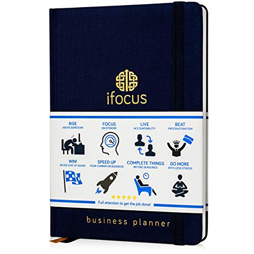 Business Planner Undated For Entrepreneurs! Focus Project Notebook For Productivity! 2020 Best Daily Weekly Self Organizer Planner/win The Day! Beat Procrastination! Ifocus A5 Work Planner
