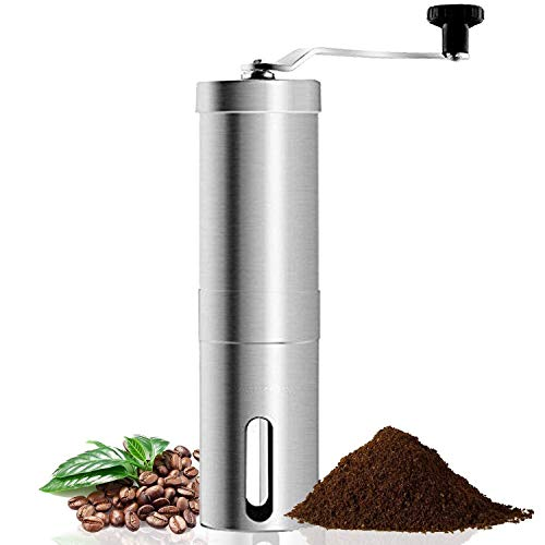 Coffee Grinder,manual Conical Ceramic Burr Mill For Precision Brewing, Heavy Duty For K Cup, Espresso, French Press, Turkish Best Coarse Grind For Office Home, Traveling Camping Consistent Grind Herb,