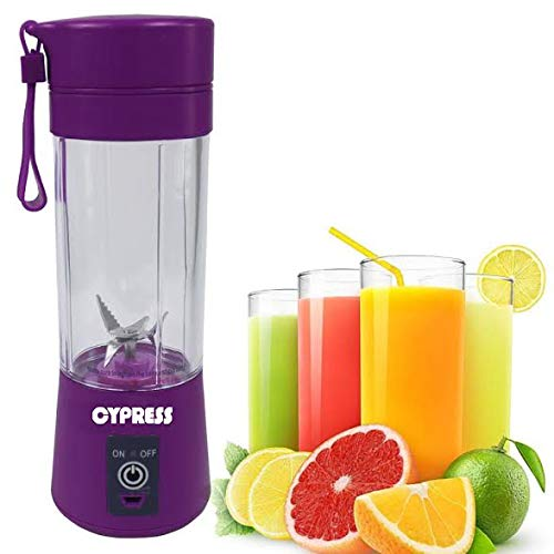 Cypress, Smart Portable Usb Rechargeable Blender/mixer Smoothie/baby Food Mixing Machine Maximum Capacity 380 Milliliter, Best For Travel, Home And Personal Use (purple)
