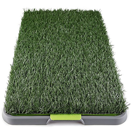 Dog Grass Pee Pad Potty Artificial Grass Patch For Dogs Pet Litter Box Training Pads Best For Puppy Indoor Turf Fresh Fake Porch Lawn Toilet Mat Bathroom Tray Doggie Trainer Balcony Patio Mats