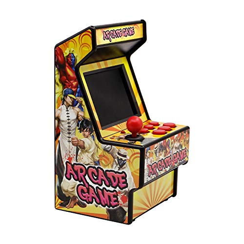 Easegmer Kids Mini Arcade Game Machine, Retro Rechargeable Handheld Fc Games Consoles, 156 Classic Arcade Games Support Av Output, 2.8 Inches Electronic Game Player, Best Video Game Presents Yellow
