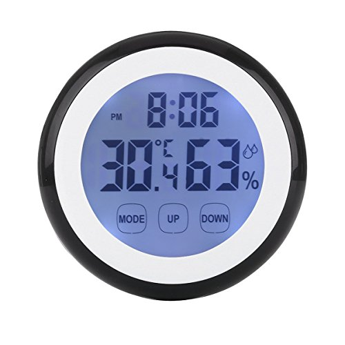 Enjoy Best Time Digital Weather Station Wall Mounted Alarm Clock With Temperature & Humidity Mini Touch Screen Indoor Thermometer Hygrometer Cooking Clocks For Kitchen,traveling, Living Room