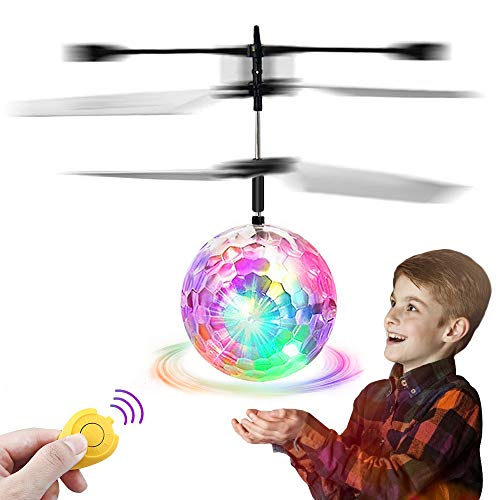 Feiqio Flying Ball Toys, Kids Rc Toys With Led Drone Sensor Induction Helicopter With Remote Controller Indoor/outdoor Games Flying Toys For Boys And Girls Age 6 Years Over Best Gifts (white)